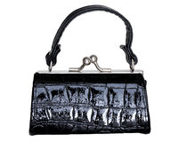 Black purse Stock Photo