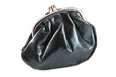 Black purse Royalty Free Stock Photo