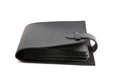 Black purse isolated Royalty Free Stock Photography