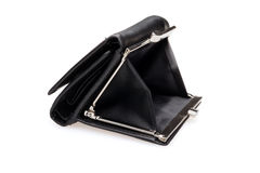 Black purse - stock image Stock Photo