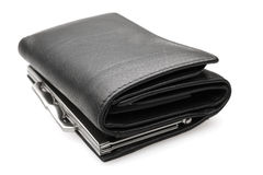 Black purse - stock image Stock Photography