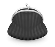 Black purse  on white background. 3d. Royalty Free Stock Photos