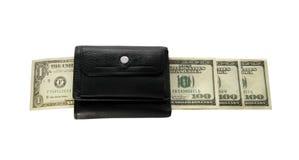 Black purse with white isolated background, Dolar Stock Photos