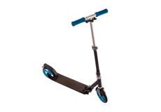 Black push scooter Royalty Free Stock Images