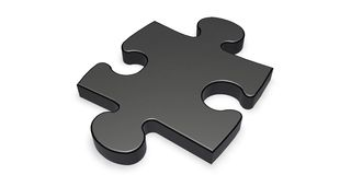 Black puzzle piece Stock Image