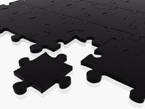 Black puzzle with piece missing Royalty Free Stock Photos