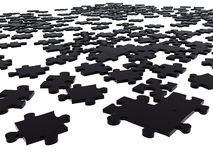 Black puzzle pieces Royalty Free Stock Image
