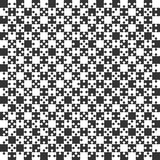 Black Puzzle Pieces JigSaw - Vector - Field Chess. Black Puzzle Pieces in a White Square - JigSaw - Vector Illustration. Vector Background. Field for Chess Stock Photo
