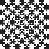 Black Puzzle Pieces - JigSaw Vector - Field Chess. Black Puzzle Pieces in a White Square - JigSaw - Vector Illustration. Vector Background. Field for Chess Royalty Free Stock Images