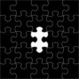 Black puzzles. Raster  Stock Photos