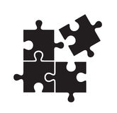 Black puzzles Royalty Free Stock Image