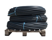 Black PVC hoses Stock Image