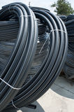 Black PVC hoses Stock Photos