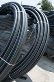 Black PVC hoses stock photos