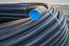 Black PVC pipe Royalty Free Stock Image