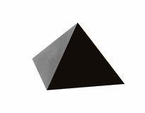 Black pyramid Royalty Free Stock Image