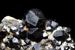 Black pyrope background Stock Images