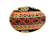 Black pysanka Easter egg Royalty Free Stock Photos