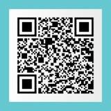 black qr code on white paper sticker for pattern and design,vect vector illustration