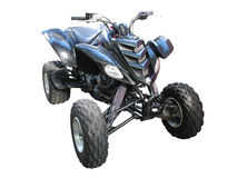Black quadbike atv isolated over white Stock Images