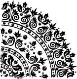 Black quadrant ornament Stock Images