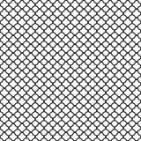 Black quatrefoil pattern. On bright white background Stock Image