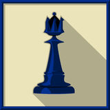 Black queen. Chess. Black queen on a white background Stock Photo