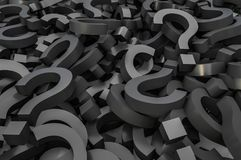 Black question marks background Stock Image
