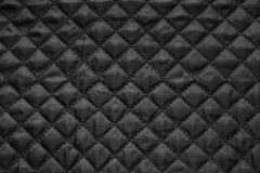Black quilted fabric Royalty Free Stock Image