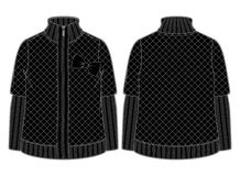 Black quilted jacket Stock Image