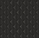 Black quilted leather Stock Photography