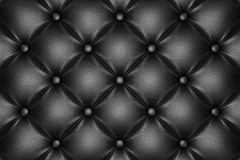 Black quilted leather pattern Royalty Free Stock Image