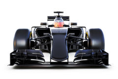 Black Race car front view on a white isolated background.Generic 3d rendering Stock Image