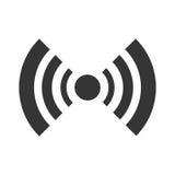 black radar icon with stripes, graphic Stock Image
