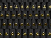 Black radiation barrels Stock Photo