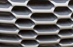 Black radiator grille. Grid of car close-up, texture, background stock photos