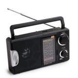 Black radio isolated on white background Royalty Free Stock Photography