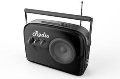 Black radio. Isolated on white background Stock Photos