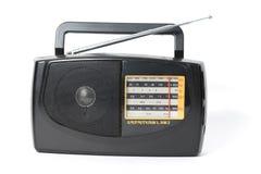Black radio isolated on white background. Royalty Free Stock Images