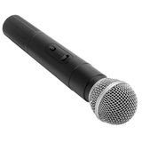 Black radio microphone isolated on white Royalty Free Stock Photography