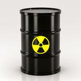 Black radioactive barrel Stock Image