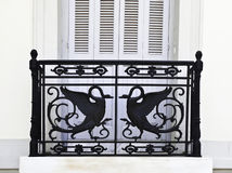 Black railings Stock Images