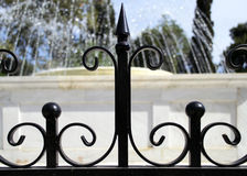 Black railings Royalty Free Stock Images
