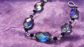 Black and rainbow crystal bracelet Royalty Free Stock Photos