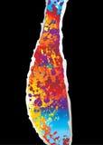 black rainbow rip Στοκ φωτογραφία με δικαίωμα ελεύθερης χρήσης