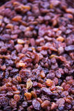 Black raisins. Royalty Free Stock Photo