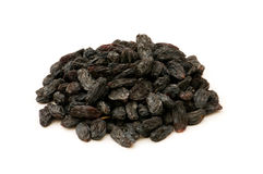 Black raisins isolated Royalty Free Stock Image