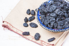 Black raisins Royalty Free Stock Images