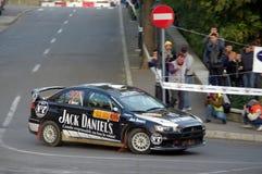 Black rally car Royalty Free Stock Photo