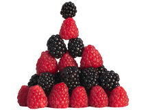 Black and Rasberry Pyramid Stack Stock Image